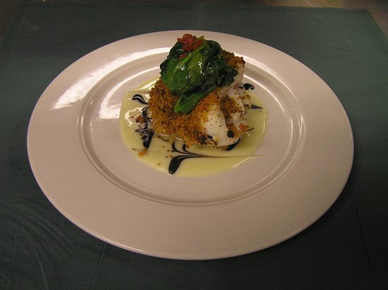 Vermont Supper Club : Broiled Haddock with Sundried Tomato Crust and Balsamic Beurre Blanc