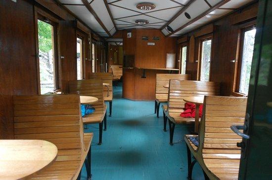 Nature Park Mokra Gora: вагон, когда пассажиры разбежались:)