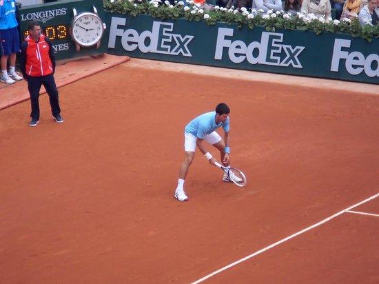 Stade Roland Garros: Djokovic on Chatrier