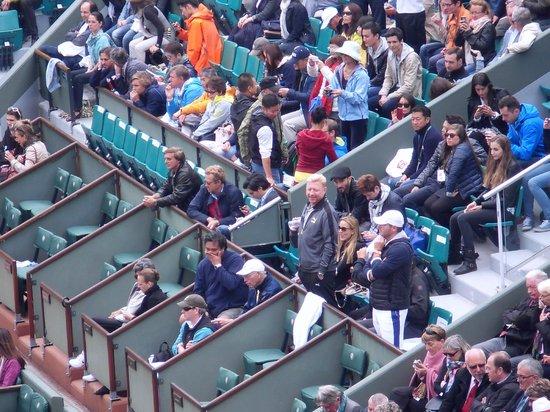 Stade Roland Garros: Boris Becker