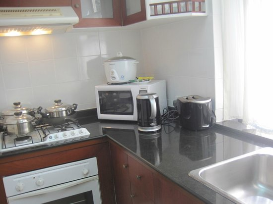 Riverside Serviced Apartments: the  fully equipped kitchen