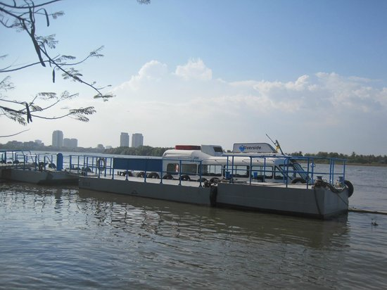 Riverside Serviced Apartments: here I had the  hotel's shuttle boat to the city center