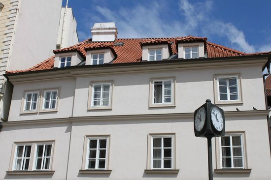 Happy Prague Apartments : View of the upper floors including the skylights for loft bedroom.