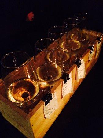 Micro Wine Bar: White wine flight