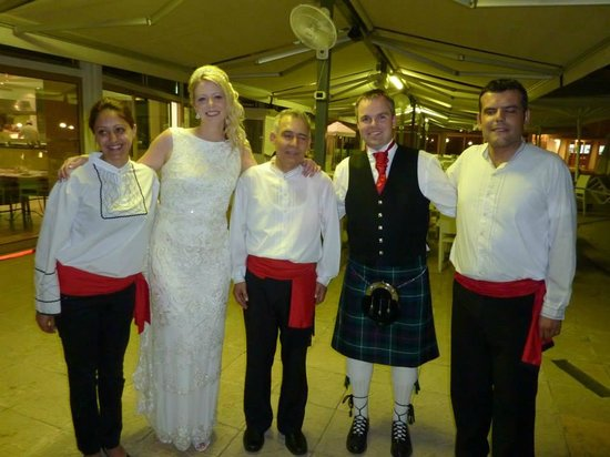 Louis Imperial Beach : This is photo of us with Greek dancers that were arranged through Christine for our wedding