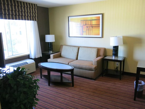 Holiday Inn Express Suites Belmont: living area, room 304