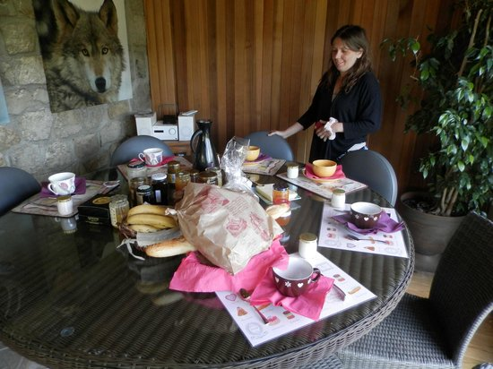 Le Mas de Bouilhac : petit déjeuner
