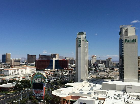Looking At Palms Hotel And The Strip