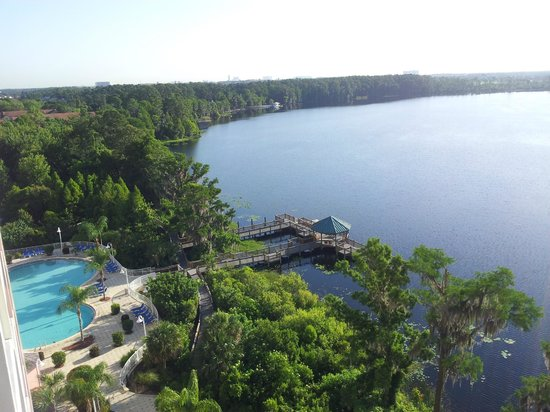Blue Heron Beach Resort: view of lake Bryan and pool from 2=807
