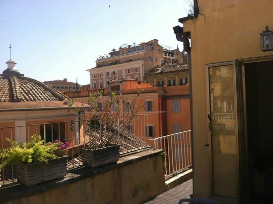 Raffaello Hotel: view from our balcony