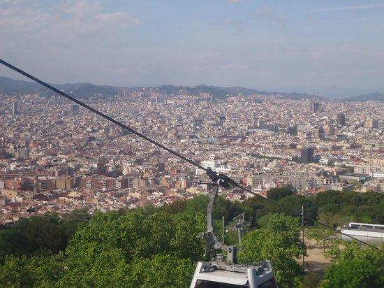 Parc de Montjuic: Vista de la ciudad desde el cablecarril