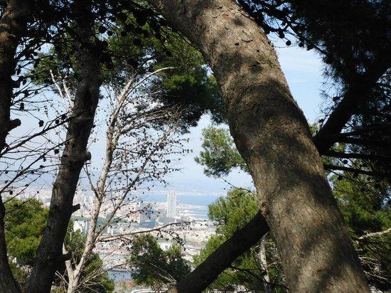 Parc de Montjuic: Vista del mediterráneo desde lo alto del Montjui