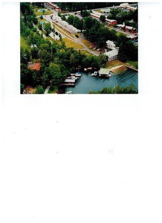 Birds view of the Villas on Lake George