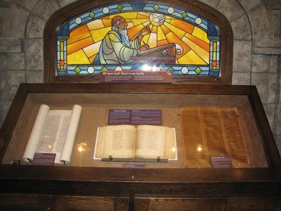 Creation Museum: Preserved Bibles