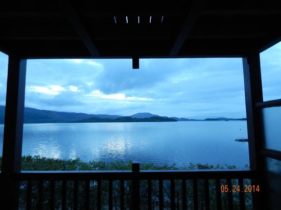 Lodge on Loch Lomond: View from the deck