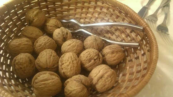 Local walnuts after diner