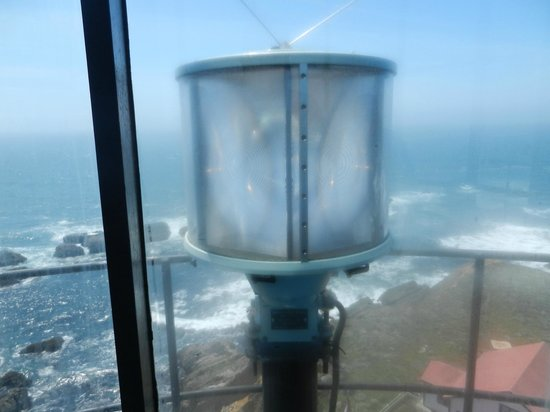 Point Arena Lighthouse: Today's Electric Light (Bolted to the Tower)