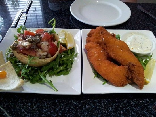 The Banc: octopus salad and fish goujons