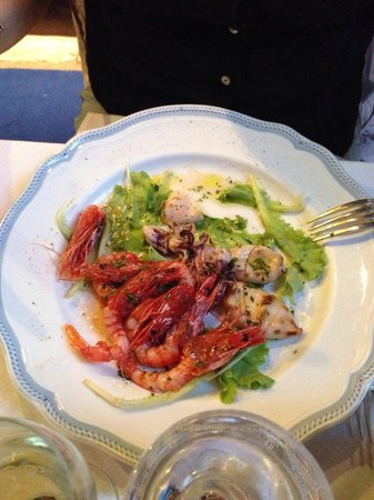 Al Paradiso : Tasty but overpriced calamari starter (30€)