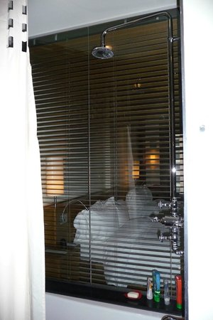 Le Germain Hotel Toronto Mercer : The venetian blind in the bathroom....!!