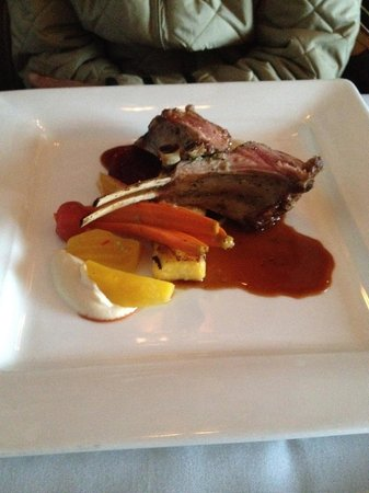 Oak Bay Beach Hotel: lamb from downstairs