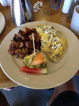 The Breakfast Club: wild mushroom omelette