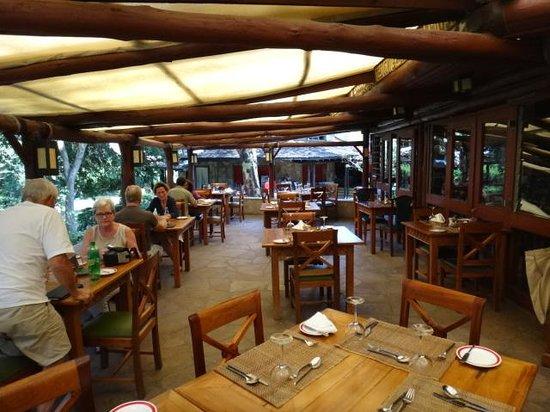 Sarova Mara Game Camp : Outside Dining Room