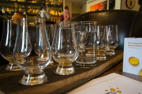 The Scotch Whisky Experience: Degustation process
