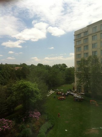 Bridgewater Marriott : View from room 312 - nice outdoor/garden dining