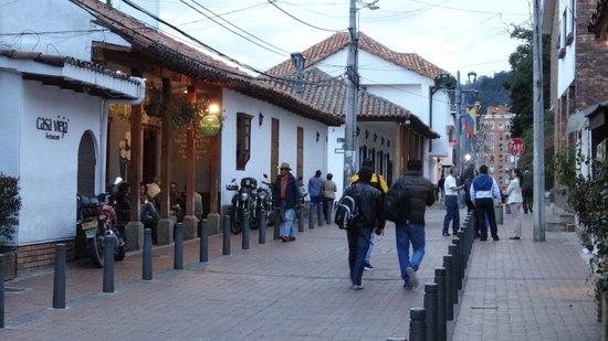 "Mercado de las Pulgas de Usaquén: one of the many ""restaurant"" streets"