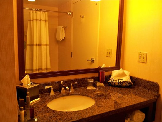 Denver Airport Marriott at Gateway Park : Bathroom-yellowish paint (yuk)
