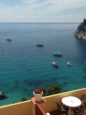 Hotel Weber Ambassador Capri : Oceanview from Weber Amabssador