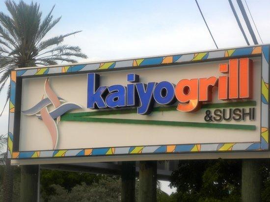 Kaiyo Grill & Sushi: Sign