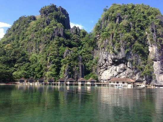 El Nido Resorts Lagen Island: view from water cottage room 110