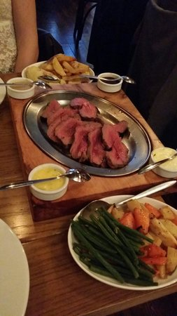F.X. Buckley Steakhouse : The dish for two and medium rare steak
