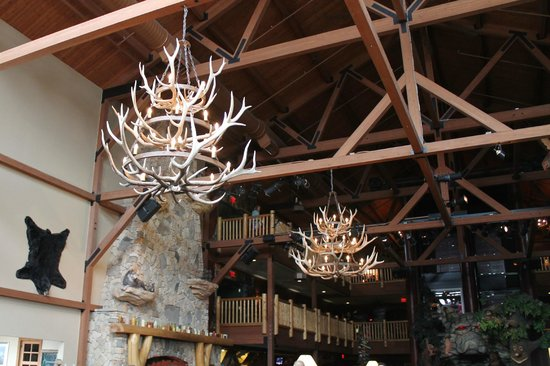 Great Wolf Lodge: inside chandeliers