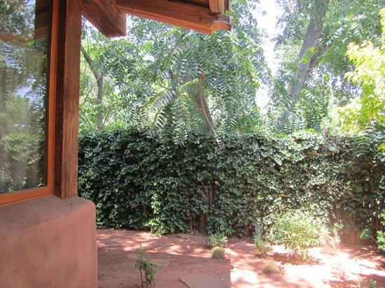 El Portal Sedona Hotel: Room 5 private back yard