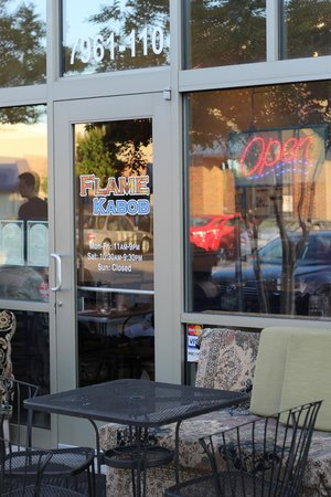 Flame Kabob: cute outdoor seating