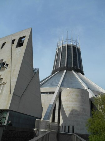 Metropolitan Cathedral of Christ the King Liverpool: Another outside view of the Cathedral
