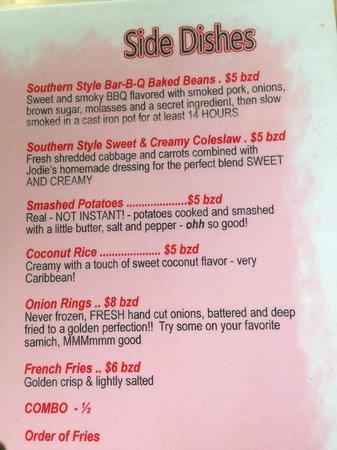 Palapa Bar and Grill: menu for food