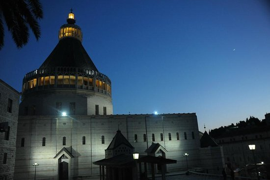 The Church of the Annunciation: Church of the Annunciation at night (Nazareth, Israel)
