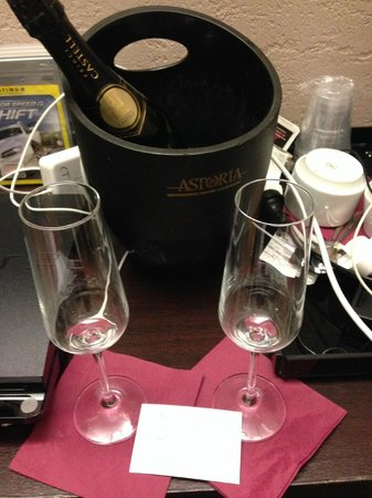 Hotel Dharma: Complimentary Champagne