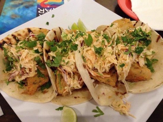 La Cueva Del Mar: Fish Tacos with spicy mayo are incredible!