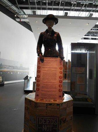 Museum of Liverpool: Exhibit re Women's Rights