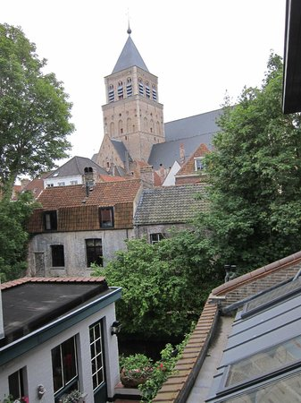 Huis Koning : view of st jacob's church from our room