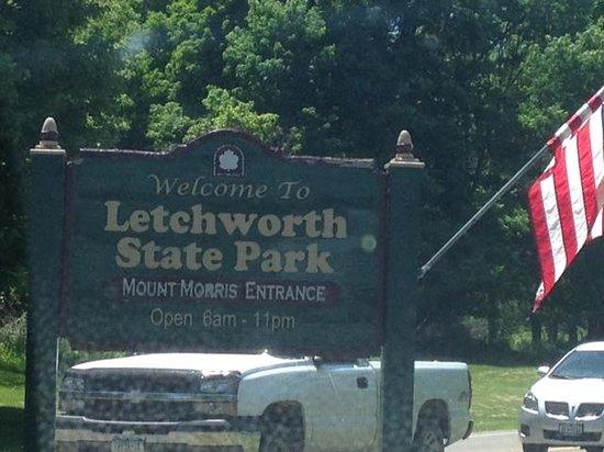 Letchworth State Park - entrance