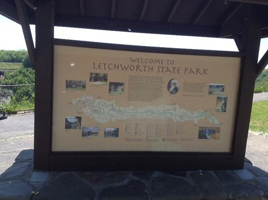 Letchworth State Park - info booth