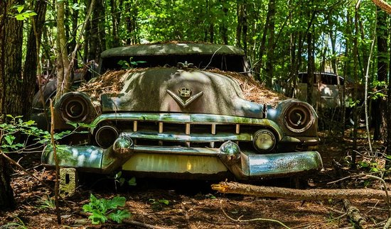 Old Car City: Many cars are loaded with personality.