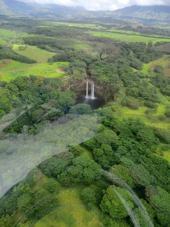 Wailua Falls: View from helicopter tour