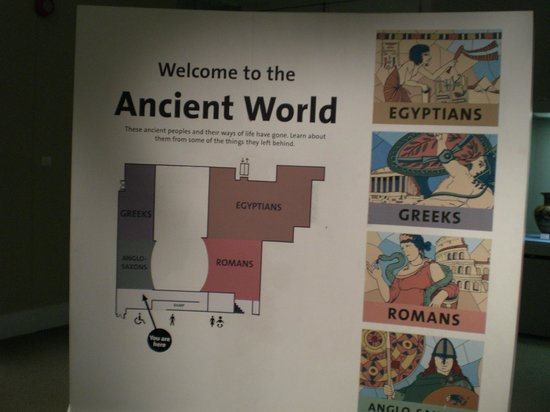 World Museum: Sign at the entrance of the Ancient World Exhibit